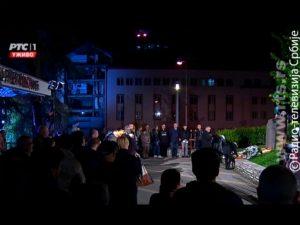 Сјећање на жртве бомбардовања РТС-а Фото: Screenshot