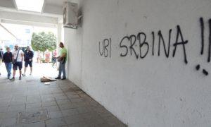 Графити само један од начина узнемиравања / Фото Заједничко веће општине Вуковар