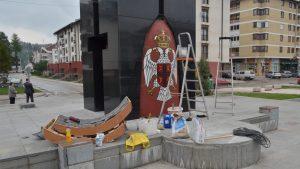 Реконструкција споменика палим борцима отаџбинског рата