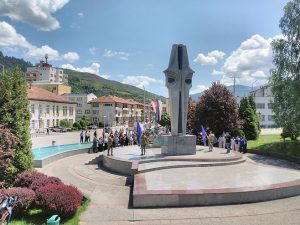 Фоча:Споменик погинулим борцима и цивилима Фото: СРНА