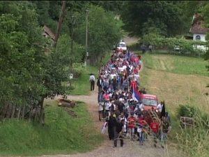 Марш поводом сјећања на страдање Срба Фото: РТРС