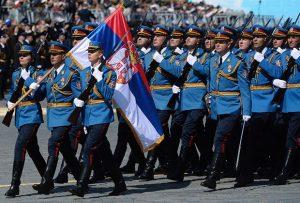 Srpska garda na paradi u Moskvi