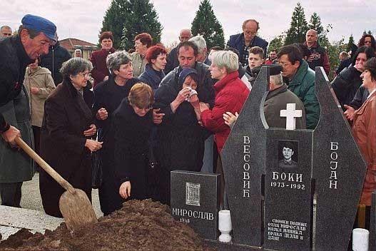 Sahrana Bojana Vesovića u Kragujevcu 2004. godine