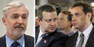 Мехо Омеровић, Ивица Дачић и Александар Вулин