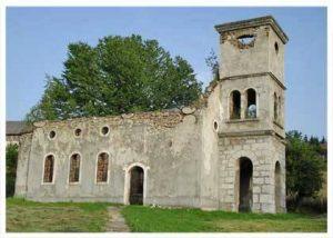 Запаљена СПЦ, Светих апостола Петра и Павла у Осенику, јуна 1992.