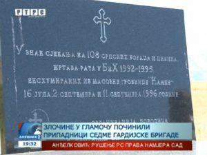 "Годишњица ексхумације из масовне гробнице ""Камен"" код Гламоча Фото: Screenshot"
