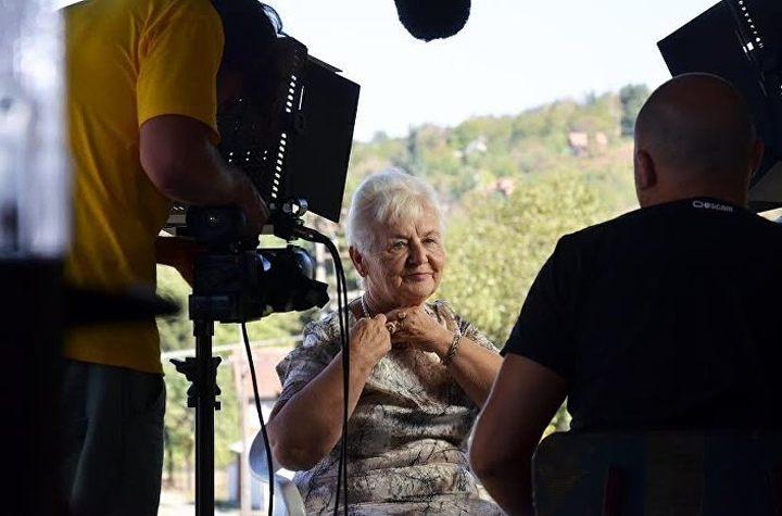 Јелена Радојчић Бухач, преживела логор Стара Градишка. Екипа филма прошла је посебне припреме за снимање, било је и оних који су одустали, нису имали снаге да слушају све страхоте кроз које су ови људи прошли. ФОТО: PRODUKCIJA TERIREM