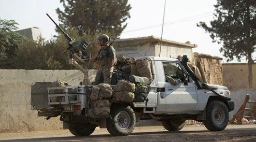Амерички војник у Алепу, Сирија (Фото: Khalil Ashawi)