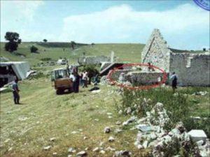 Ископавање жртава у селу Блаце