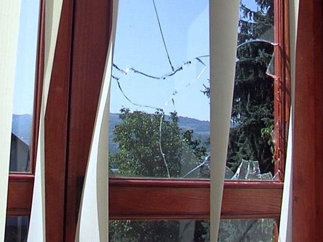 Полупани прозори на Светосавском дому (Фото: РТРС)