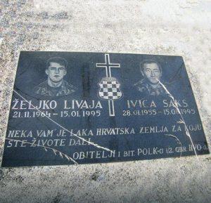 Спомен плоча за хрватске војнике Фото: Р. Шегрт/РАС Србија