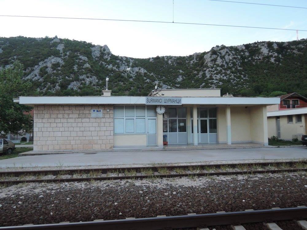 Željeznička stanica Šurmanci 2017. godine
