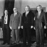 Кучан, Изетбеговић, Туђман, Милошевић, Глигоров и Булатовић на самиту априла 1991. , Фото Танјуг