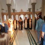 Молебан у Храму Светог Нектарија Егинског