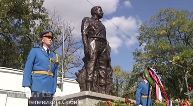 Споменик народном хероју Милану Тепићу откривен је јуче у Београду