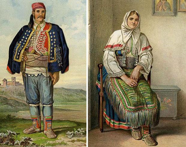 Srbi iz Benkovca početkom 20. veka u nacionalnoj nošnji