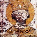 Лик деспота Ђурђа Бранковића из Есфигменске повеље, коју је овај владар издао манастиру Есфигмену на Светој Гори 11. септембра 1429. Повеља је израђена у манастиру Жича