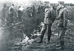 Visokog nemačkog oficira koji je komandovao zločinom ubili su partizani samo 20 dana kasnije kod Lebana, dok je pokušao da se ukopa u stajsko đubrivo Foto: Promo