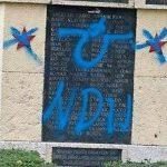 Загреб: Поново усташки симболи на бистама хероја НОБ-а Фото: Index.hr