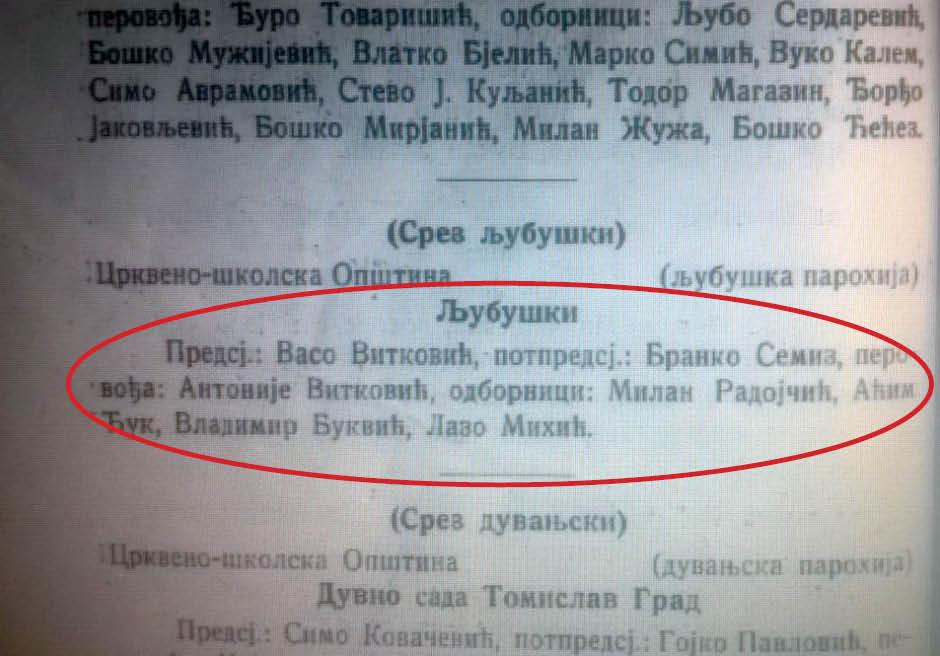 Споменица Епархије херцеговацко – захумске (1928. година Мостар)
