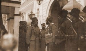 Престолонаследник Александар са руским војницима и официрима у Београду 1914. године