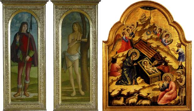 Две од осам слика које траже Италијани