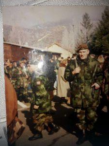Енис Суљевић у војсци Фото: Приватна архива