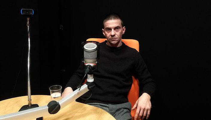 Иван Миљковић у студију Спутњика Фото: Спутњик