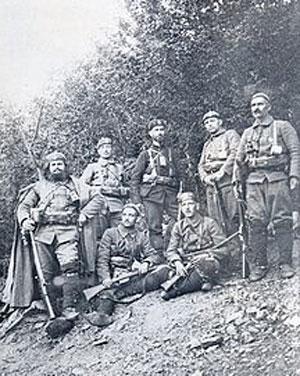 Тодор Александров са својим људима у Македонији
