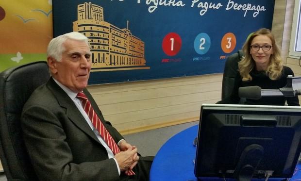 Akademik Vasilije Krestić, gost Radio Beograda
