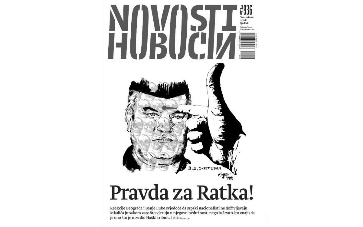 Насловна страна броја 936 Самосталног српског тједника Новости
