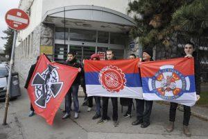 ПОДРШКА Присталице рехабилитације Милана Недића у понедељак испред суда Фото З. Јовановић