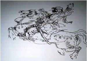 Потјера, сртеж