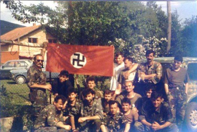 Хрватски војници у Бугојну 1992.године