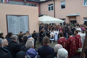 """Obilježavanje 76 godina od kada su ustaše ubile 52 učenika Osnovne škole """"Đura Jakšić"""" u banjalučkom naselju Šargovac."""