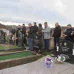 Постављање споменика и опијело за преминулог Милета Пашића.