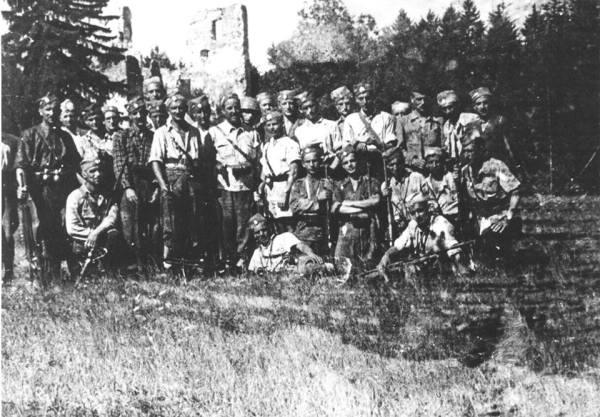 Словеначки четници, борци Југословенске Краљевске Војске у Отаџбини, верни војничкој заклетви и захвалности српским комитама који су (у првим годинама 20. века) започели величанствену епопеју ослобођења свих поробљених хришћана, Јужних Словена, од Турака и Аустријанаца…