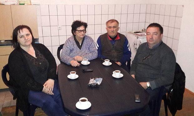 Божидар Шарковић (десно) у посети Милораду Зајићу