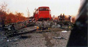 Место злочина након терористичког акта.