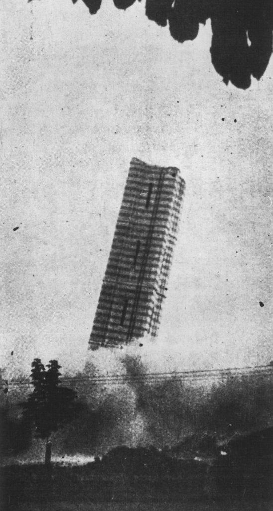 Ustaše miniraju zvonik hrama Hrista Spasitelja u Banjaluci 1941.