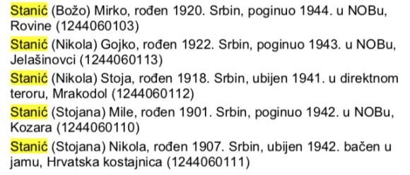 Босна-општина Босански Нови – Мракадол 5 Станића