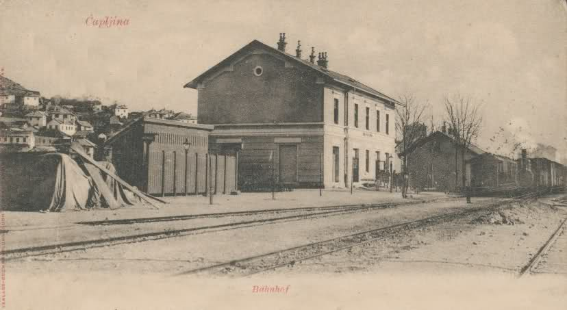 Стара жељезничка станица у Чапљини, на коју су довођене српске жртве и са ког су одвожене на ликвидацију