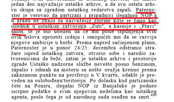 """Из књиге Др Душана Лукача, """"Устанак у босанској Крајини"""", Београд 1967. Дио текста на страни 219."""