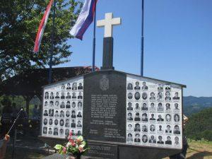 Спомен-обиљежје у селу Залазје Фото: СРНА