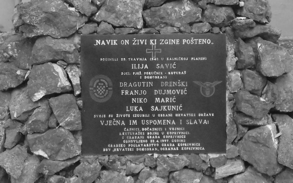 Miškina, okreni se u grobu – domobransko-ustaški spomenik FOTO:Novosti