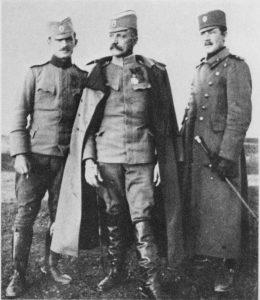 Vojvoda Živojin Mišić sa sinovima pukovnikom Radovanom i majorom Aleksandrom.