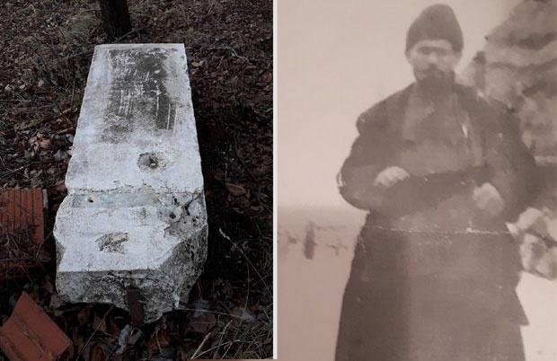 Срушени споменик / Цвјетко Пајчин - Фото Приватна архива