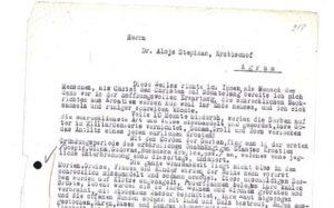 Pismo Stepincu Nemci preveli i arhivirali ga u svom dosijeu