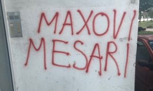 Усташки графит у Сплиту,фото Зоран Радман/фејсбук