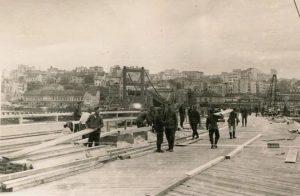 Мост од Сајмишта ка Београду. Путања камиона смрти. Приватна колекција Душана Напијала